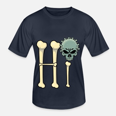 Basic Law Hi Covid Hello Corona Skull Skull - Men's Functional T-Shirt