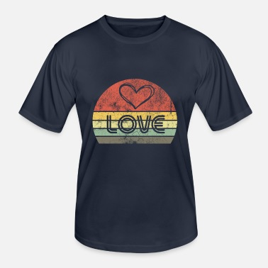 Love With Heart Valentinsdag Love Retro Vintage Love with Heart - Funksjons-T-skjorte for menn
