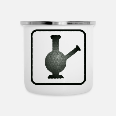 Bong Bong Black mosaic cannabis idea regalo fumare erba - Tazza smaltata