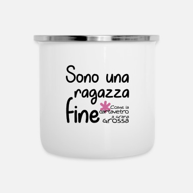 Rude Fine come la cartavetro - Tazza smaltata