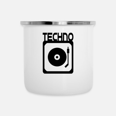 Vinyl Record Magic vinyl DJ Techno Turntable - Taza esmaltada
