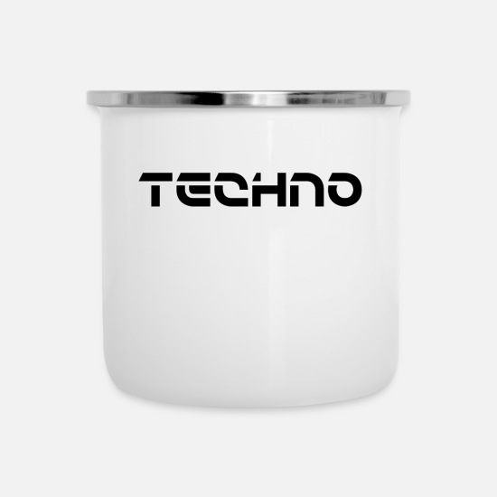 Gift Idea Mugs & Drinkware - Techno and electro - Enamel Mug white