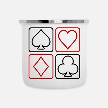 Cards poker - Emaljmugg