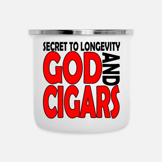 Christmas Mugs & Drinkware - Cigars - Enamel Mug white