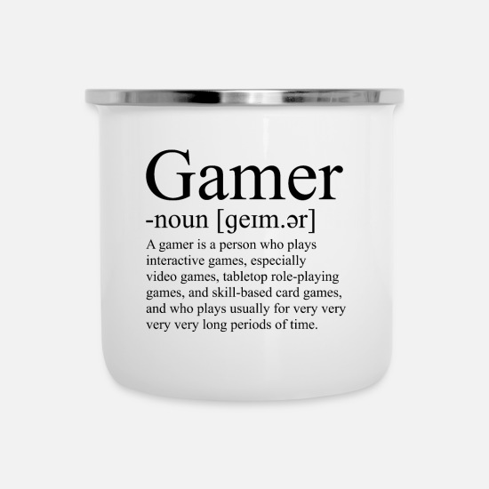 Play Mugs & Drinkware - Gamer Duden Gaming Games - Enamel Mug white