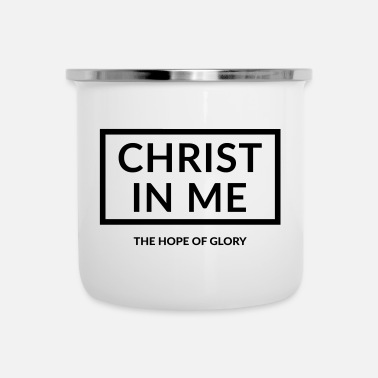 Cristo Jesus Cristo in me - Tazza smaltata