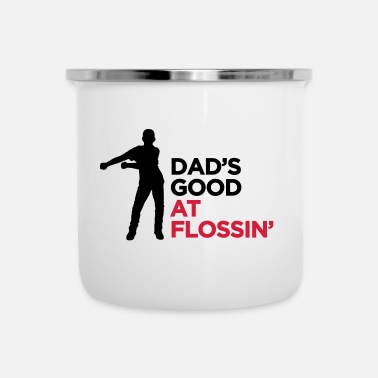 Like A Boss Dad's good at flossin' flossing Floss like a boss - Emaille mok