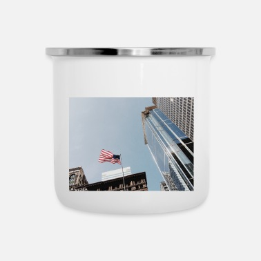 Chicago Flag - Emaljmugg