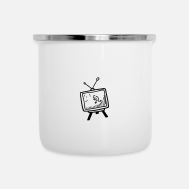 Tv Tv - Emaille-Tasse