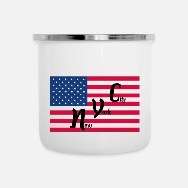 Nyc America Flag NYC - Tazza smaltata