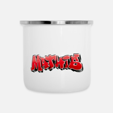 Nyc Mathis Graffiti Red - Emaille mok