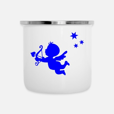 Cupid blauw cupid - Emaille mok
