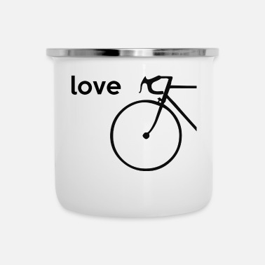 Bike Bike Bike Love - Tazza smaltata