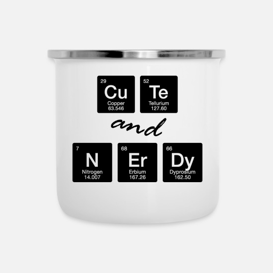 Element Mugs & Drinkware - Chemie Student Chemiker Nerd Geek Element Geschenk - Enamel Mug white