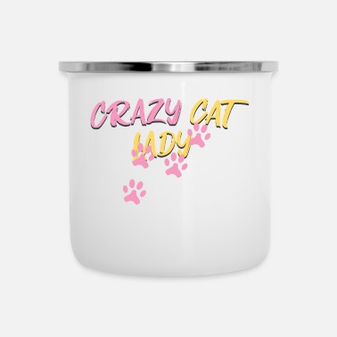 Cuore Crazy Cat Lady Catwoman Cat Meow Meow - Emaille mok
