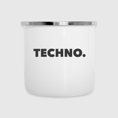 Logo Techno Music Grey - Kubek emaliowany