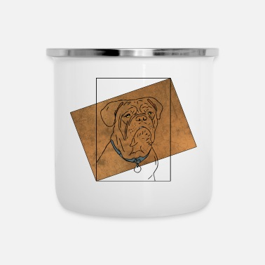 Illustrazione Illustrazione di bulldog - Tazza smaltata