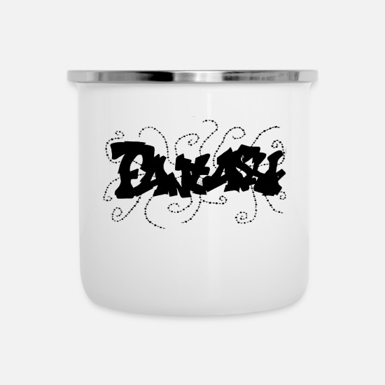 Stylish Mugs & Drinkware - graffity fantasy black - Enamel Mug white