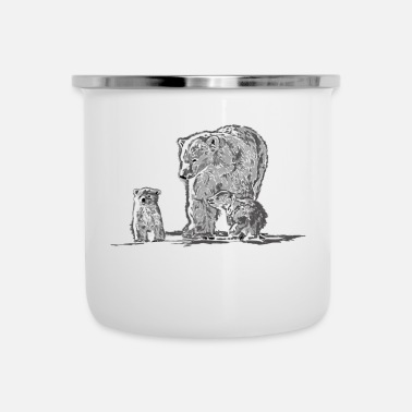 Change Eisbaer Family Climate Change Animals Geschenkide - Emaille mok