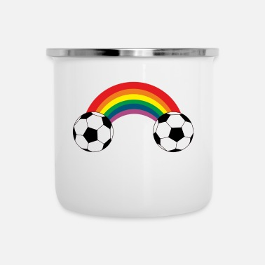 Soccer Ball Soccer rainbow balls colorful Homo gay gay - Emaille mok