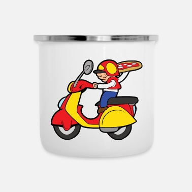 Delivery Pizza delivery delivery baker pizzeria - Enamel Mug