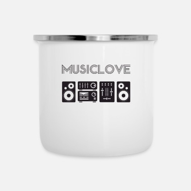 Audio Music Love - Audio Equipment Shirt Design V1 - Emaljmugg