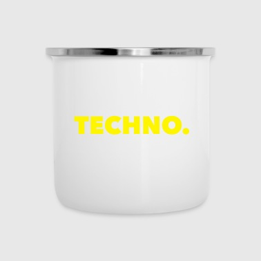 Logo Techno Music Yellow - Kubek emaliowany