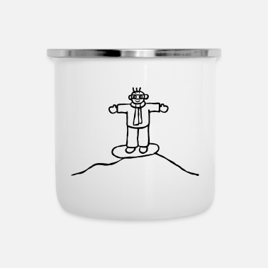 Slope Snowboarder on the slopes - Enamel Mug