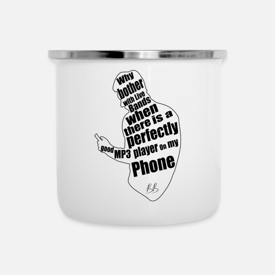 Protest Mugs & Drinkware - Phone protest - Enamel Mug white