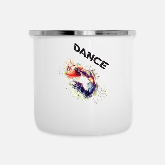 Dancehall Mugs & Drinkware - Dance Powerful - Enamel Mug white