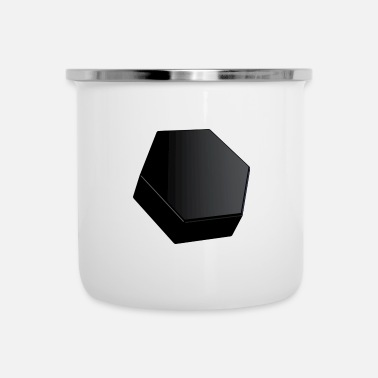 Shape Black Hexagon Shapes Black Gift - Emaljmugg