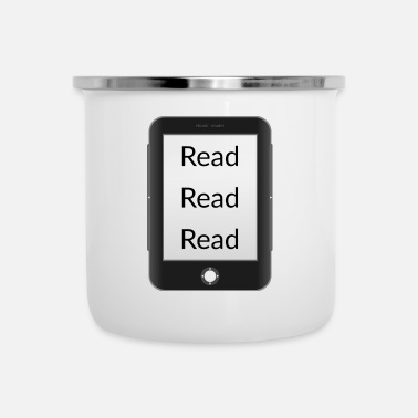 Read Read read read! Ebook reader - Enamel Mug