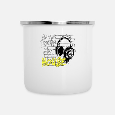 House House DJ Music House - Emaille-Tasse