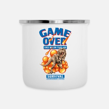 Game Over Dinosaur Game Over - Taza esmaltada