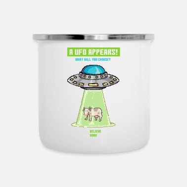 Ufo Cow Ufo Paradox-spel - Emaille mok