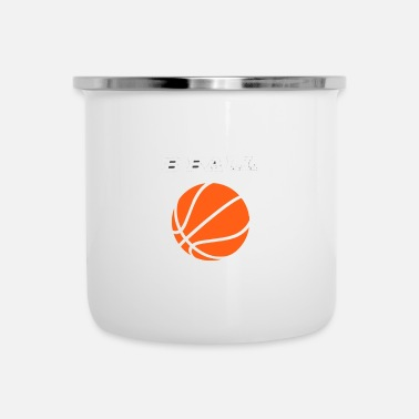 B Ball B-ball, basketball - Enamel Mug