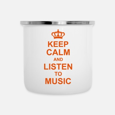 Dj keep calm and listen to music kg10 - Emaille-Tasse