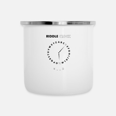 Clock Riddle Clock Nerd - Emaille mok