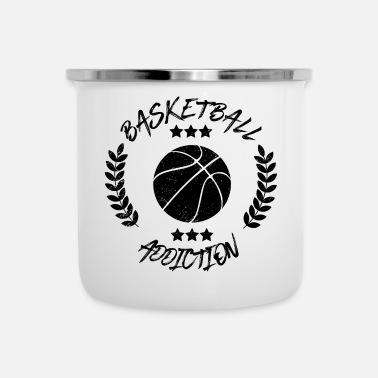 Balsport Basketbal Addiction - Verslaving Balsporten - Emaille mok