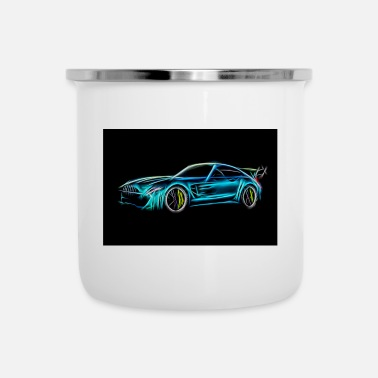 Car Car racing car sketch - Enamel Mug