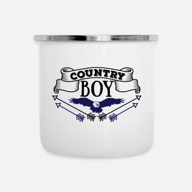 Country Country Boy - Emaljmugg