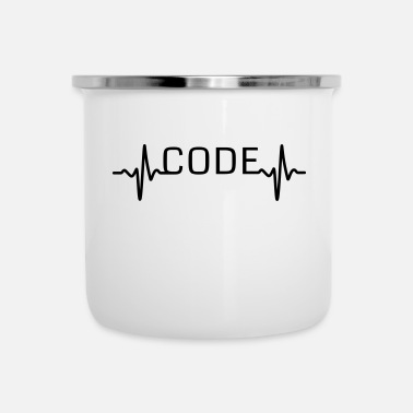 Code Heartbeat code - Emaille mok