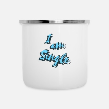 Single Ik ben single - Single T-shirt - Emaille mok