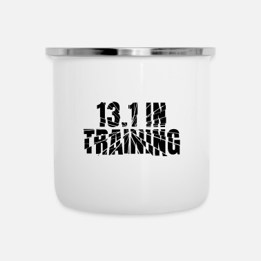 Marathon 13.1 In Training Half Marathon Running Gear - Enamel Mug
