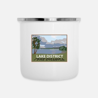 Lake District windermere in the lakes Cumbria - Enamel Mug
