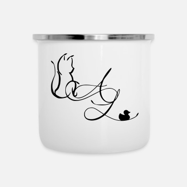 Tatoo AL - Tatoo, Duck & Cat - Tazza smaltata