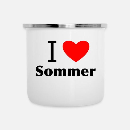 Love Mugs & Drinkware - I love summer - Enamel Mug white