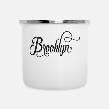 Typography Brooklyn typography vintage - Emaille mok