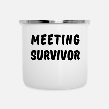 Meeting MEETING SURVIVOR kantoor grappige collega's werken - Emaille mok