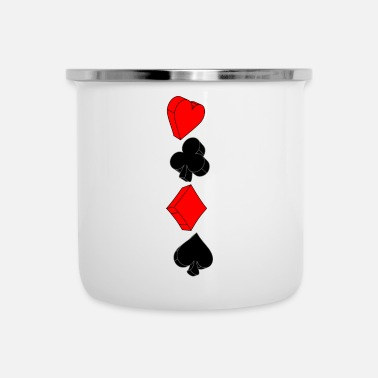 Poker poker - Tazza smaltata